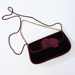 Vintage Kate Landry velvet purse with chain strap